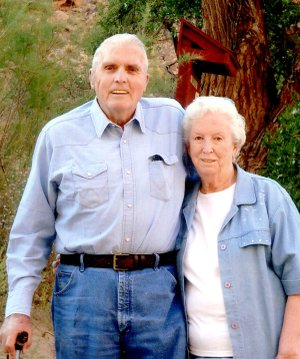 J.R. and Ruth Mitchell celebrate their 65th anniversary.