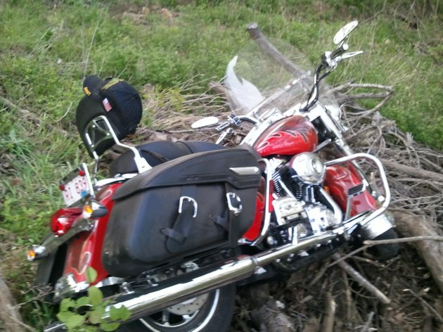 bobby-petrinos-harley-davidson-motorcycle-following-an-accident-on-sunday