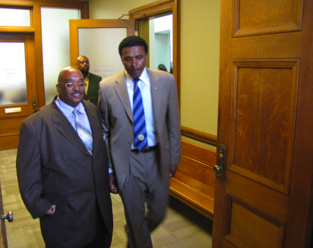 former-rep-fred-smith-right-leaves-court-after-a-hearing-over-his-eligibility-to-run-in-the-upcoming-democratic-primary