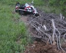 Additional photos from the site of Arkansas football coach Bobby Petrino's motorcycle accident.