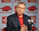 University of Arkansas Athletic Director Jeff Long addresses the media during a press conference Thu