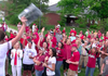 Petrino supporters at a rally Monday.