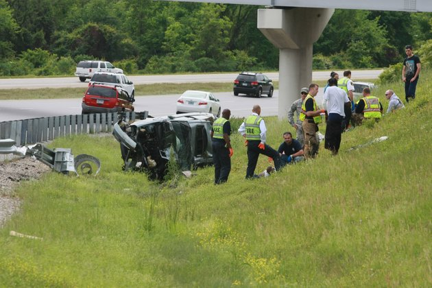 north-little-rock-firefighters-render-aid-to-three-people-who-were-injured-in-an-accident-on-us-hwy-67167-soutbound-at-i-40-westbound-in-north-little-rock-wednesday-afternoon