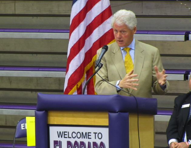 president-bill-clinton-speaks-tuesday-at-el-dorado-high-school