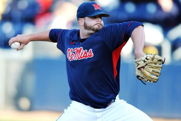 Ole Miss reliever R.J. Hively struck out the side in the ninth inning, sealing a 1-0 victory for the Rebels on Saturday.