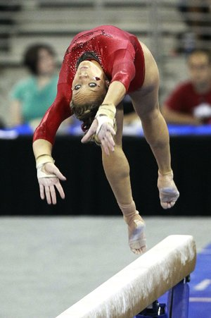 Arkansas senior Jaime Pisani ended her career Sunday as a Razorback at the NCAA individual event finals by finishing ninth on floor and 12th on beam.