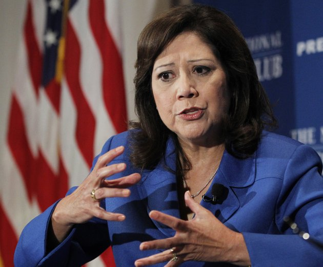 in-this-aug-30-2011-file-photo-labor-secretary-hilda-solis-speaks-at-the-national-press-club-in-washington-an-aging-population-and-an-economy-that-has-been-slow-to-rebound-are-straining-the-long-term-finances-of-social-security-and-medicare-the-governments-two-largest-benefit-programs-those-problems-are-getting-new-attention-monday-as-the-trustees-who-oversee-the-massive-programs-release-their-annual-financial-reports