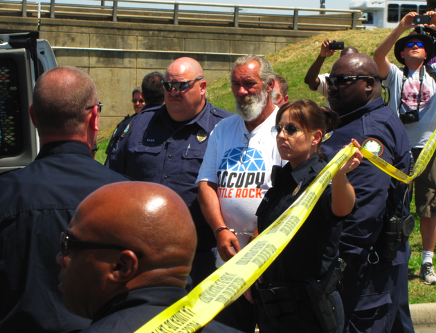 police-arrest-occupy-little-rock-protester-greg-deckelman-wednesday-afternoon-may-16-2012