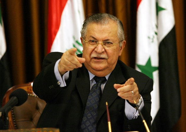 iraqs-president-jalal-talabani-talks-to-reporters-in-baghdad-in-this-aug-17-2007-file-photo