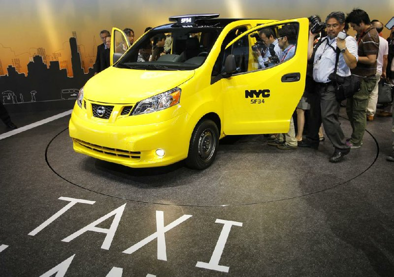 Nissan Motor Co S Gasoline Ed Nv200 Sits On Display Tuesday At The Automaker Headquarters In Yokohama An