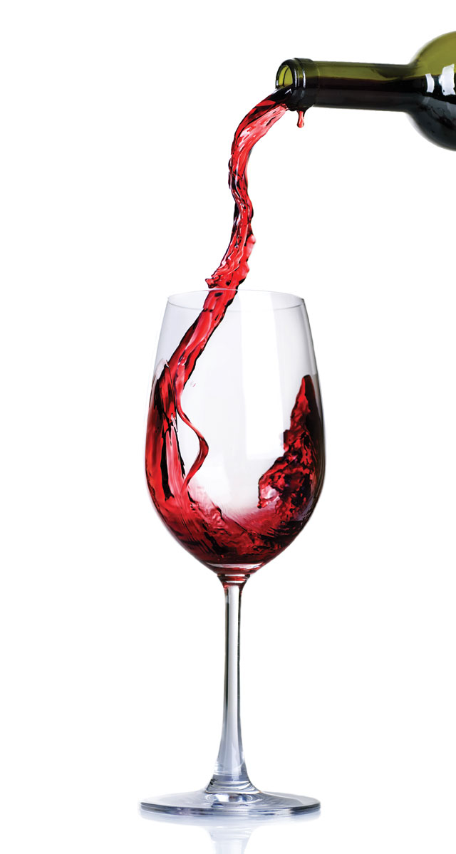 A Glass Of Red Wine In Italian
