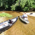A canoe and kayak, each paddled solo, proved worthy crafts for a low-water float trip on the Kings R...