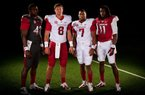 The University of Arkansas on Wednesday released images of its new football uniforms.