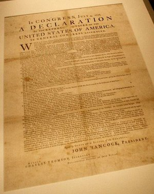 "The temporary exhibit ""Declaration: Birth of America"" at Crystal Bridges Museum of American Art in Bentonville will display one of the known copies of the 200 broadside versions of the Declaration of Independence printed July 4, 1776."