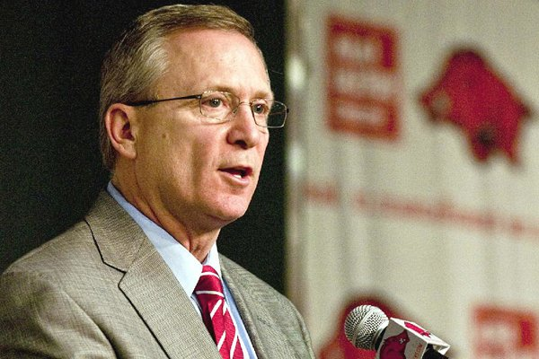 Arkansas Athletic Director Jeff Long said approval by the Board of Trustees for facilities bids hopefully is not too far away.