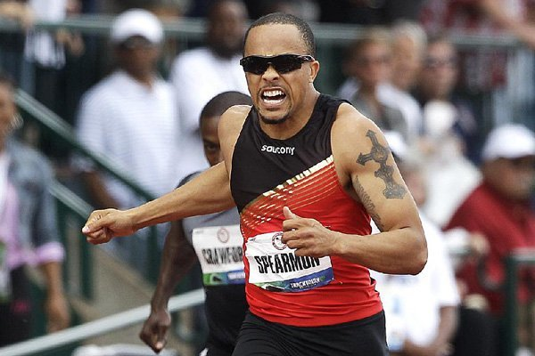 Wallace Spearmon is headed back to the Olympics after finishing first in the men's 200-meter final Sunday. Spearmon finished in 19.82 seconds and will join the U.S. team in London.