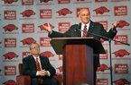 Arkansas football coach John L. Smith is making plans to declare bankruptcy.