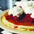 The strawberry short stack is a favorite at Antrim's Pancake House in Lowell.