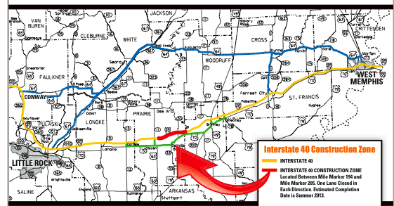 this-graphic-provided-by-the-arkansas-state-highway-and-transportation-department-shows-in-red-an-i-40-construction-zone-that-is-slowing-traffic-between-memphis-and-little-rock-in-green-and-blue-are-suggested-alternate-routes-to-avoid-the-work-zone