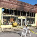 The apartment above Leta's Furniture and Antiques on Fayetteville Avenue in Alma caught fire Tuesday...