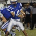 Max Harrell, Rogers High quarterback, will direct the Mounties' wishbone attack this season. Harrell...
