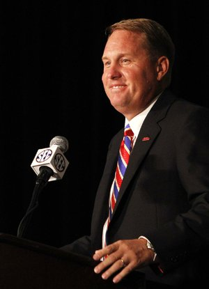 "Ole Miss Coach Hugh Freeze said he's excited about having a core group of players ""to lead us out of this wilderness, so to speak,"" and back into contention for an SEC title."