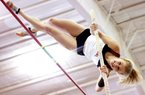 Pole vaulter Tina Sutej, a two-time national champion at Arkansas, will compete for her home country of Slovenia in Saturday's qualifying round of the women's pole vault in London. Forty women will compete in qualifying, with the top 12 making Monday's final.
