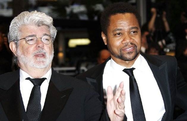 director-george-lucas-left-and-actor-cuba-gooding-jr-arrive-for-the-screening-of-cosmopolis-at-the-65th-international-film-festival-in-cannes-southern-france-friday-may-25-2012-on-tuesday-disney-announced-that-it-purchased-lucasfilm-for-405-billion-ap-photojoel-ryan