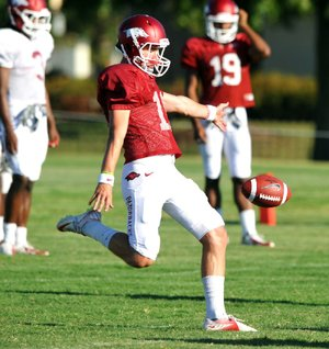 Zach Hocker's story of kicking success at Arkansas is full of losses, questions and begging for a tryout.