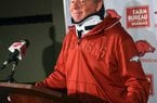 Former Arkansas Coach Bobby Petrino, who showed the effects of facial surgery and sported a neck brace during his last public appearance at a news conference April 3, appeared in a Thursday interview with ESPN's Joe Schad to have recovered physically from the wreck.