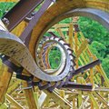 Outlaw Run is the world's only wooden coaster to twist upside down — not just once but three times, ...