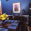 "JB Portillo said this ""Blue Dog on Stump"" painting, one of only 100 prints by New Orleans artist Geo..."