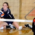 Emily May, a Shiloh Christian senior, digs for a ball on Tuesday during a match against Rogers Herit...