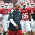 Paul Haynes is entering his first season as Arkansas' defensive coordinator and has been pleased wit...