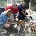 Donna Miles, from left, manager of the Bella Vista Animal Shelter, Matt Colston, assistant manager o...