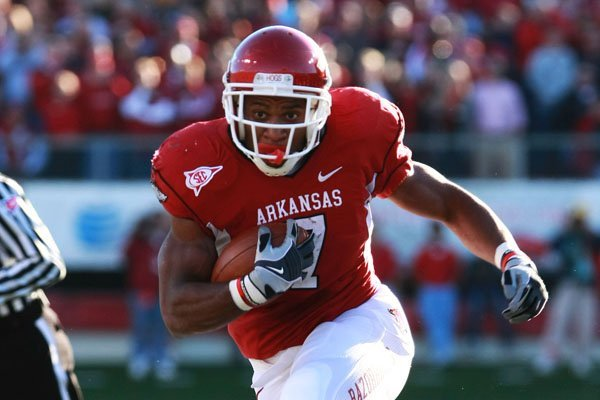 Former Arkansas running back Knile Davis was drafted by the Chiefs on Friday.