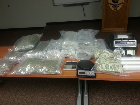 Police seized 34.5 pounds of ...