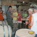 Some on the rumble trip toured a winery during an overnight stop at Klondike county park in St. Char...