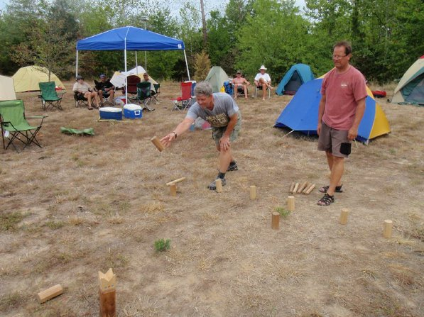 The day's mileage is usually done by midafternoon which allows time for fun and games in camp.