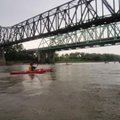 The last day of the Great River Rumble on Aug. 4 brought welcome rain during the morning. Here paddl...