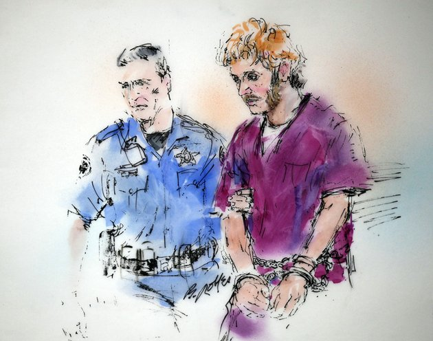 this-courtroom-sketch-shows-suspect-james-holmes-right-being-escorted-into-court-by-a-sheriffs-deputy-for-a-motions-hearing-in-district-court-in-centennial-colo-on-thursday-aug-9-2012