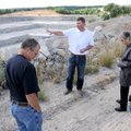 Chris Godsey with Northwest Arkansas Quarries takes the Washington County Planning Board on a tour o...