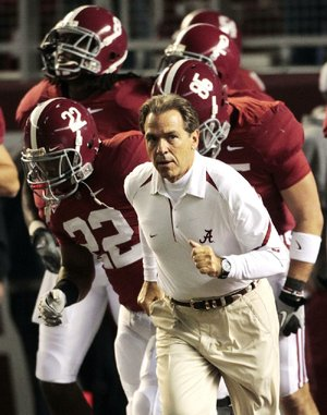 Heading into today's season opener against No. 8 Michigan, Alabama Coach Nick Saban is 18-6 against ranked opponents and 10-4 against top-10 teams over the past four seasons. The Crimson Tide, the defending national champions, have been ranked in the Associated Press poll for 65 consecutive seasons, the nation's longest active streak.