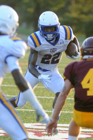 North Little Rock's Altee Tenpenny rushed for 76 yards and scored 2 touchdowns in the first half to help the Charging Wildcats beat Lake Hamilton 42-7.
