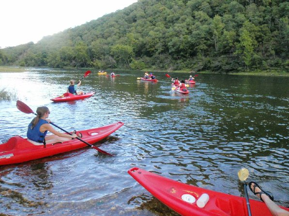 Students set off on an Outdoor Connection Center kayak trip on the White River below Beaver Dam.