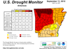 The latest Drought Monitor for Arkansas.