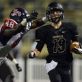 Nate Gneiting, right, a Bentonville safety, is chased down by South Panola (Miss.) tight end Jaylen ...