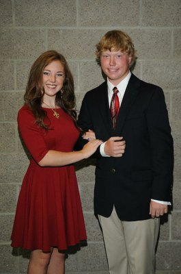 Junior maid Conley Mathews; Escort Garrett Kelly