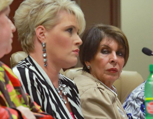 state-treasurer-martha-shoffner-right-listens-to-autumn-sanson-her-chief-investment-officer-tell-her-side-of-the-story-at-a-meeting-of-the-legislative-joint-auditing-committee-on-september-17-2012