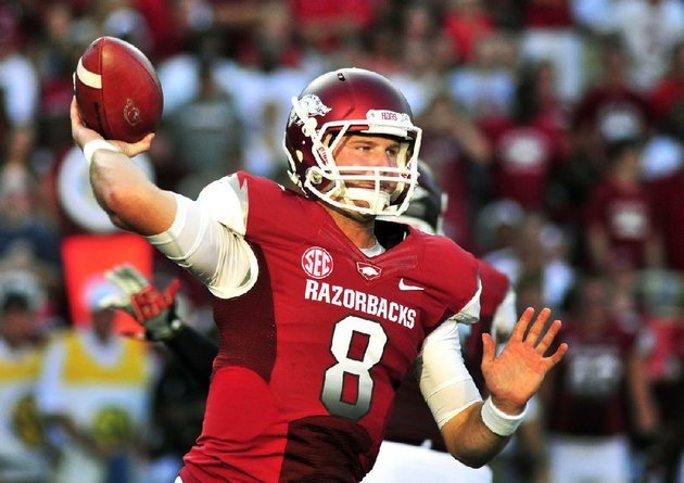 arkansas-quarterback-tyler-wilson-passes-during-the-first-quarter-of-an-ncaa-college-football-game-against-jacksonville-state-in-fayetteville-ark-saturday-sept-1-2012-ap-photoapril-l-brown